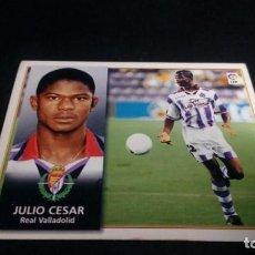 Cromos de Fútbol: JULIO CESAR VALLADOLID SIN PEGAR PANINI EDICIONES ESTE LIGA TEMPORADA 1998 1999 98 99 . Lote 199258338
