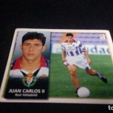 Cromos de Fútbol: JUAN CARLOS II VALLADOLID SIN PEGAR PANINI EDICIONES ESTE LIGA TEMPORADA 1998 1999 98 99 . Lote 199258342