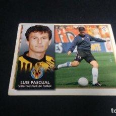 Cromos de Fútbol: LUIS PASCUAL VILLARREAL SIN PEGAR PANINI EDICIONES ESTE LIGA TEMPORADA 1998 1999 98 99 . Lote 199258452