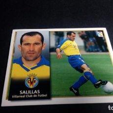 Cromos de Fútbol: SALILLAS VILLARREAL SIN PEGAR PANINI EDICIONES ESTE LIGA TEMPORADA 1998 1999 98 99 . Lote 199258460
