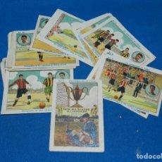 Cromos de Fútbol: CROMOS - COMO FUE GANADO EL CAMPEONATO DE FUTBOL - ALCANTARA , ZAMORA, SAMITIER, COMPLETO 25 CROMOS. Lote 199357476