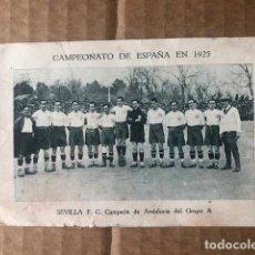 Cromos de Fútbol: CAMPEONATO DE ESPAÑA 1925 SEVILLA F.C. Nº 3 C4. Lote 199677312