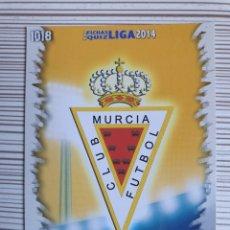 Cromos de Fútbol: 1018 ESCUDO MURCIA MATE MUNDICROMO 2013 2014 PLATINUM 13 14. Lote 199762048