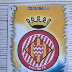 Cromos de Fútbol: 766 ESCUDO GIRONA MATE MUNDICROMO 2013 2014 PLATINUM 13 14. Lote 199770091