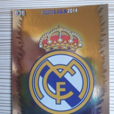 Cromos de Fútbol: 838 ESCUDO R.MADRID CASTILLA BRILLO LISO MUNDICROMO 2013 2014 PLATINUM 13 14. Lote 199834646