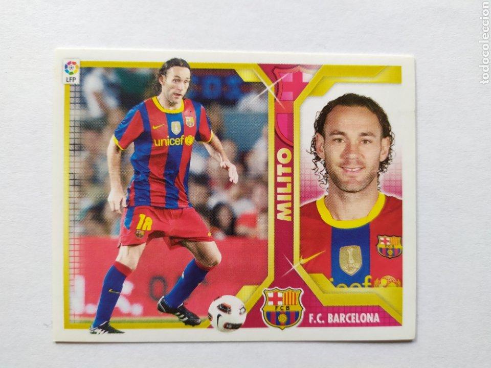 LIGA ESTE 2011 2012 PANINI MILITO N° 5 B BARCELONA (Coleccionismo Deportivo - Álbumes y Cromos de Deportes - Cromos de Fútbol)