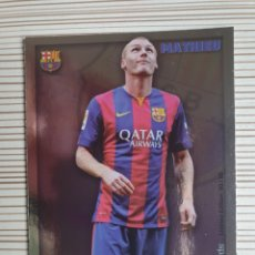 Cromos de Fútbol: 80/99 MATHIEU (BARCELONA) METALCARDS LIMITED EDITION MUNDICROMO 2014 2015. Lote 200008538