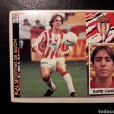 Cromos de Fútbol: DAVID CANO SPORTING DE GIJÓN. ESTE 1997-1998 97 98. SIN PEGAR. VER FOTOS DE FRONTAL Y TRASERA. Lote 219030985
