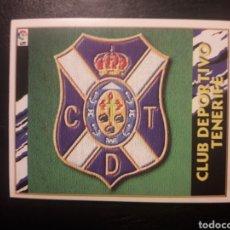 Cromos de Fútbol: ESCUDO TENERIFE. ESTE 1997-1998 97 98. SIN PEGAR. VER FOTOS DE FRONTAL Y TRASERA. Lote 219031045