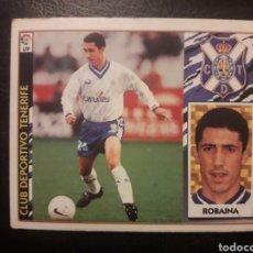 Cromos de Fútbol: ROBAINA TENERIFE. ESTE 1997-1998 97 98. SIN PEGAR. VER FOTOS DE FRONTAL Y TRASERA. Lote 219031048