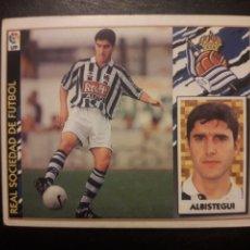 Cromos de Fútbol: ALBÍSTEGUI REAL SOCIEDAD. ESTE 1997-1998 97 98. SIN PEGAR. VER FOTOS DE FRONTAL Y TRASERA. Lote 219031072