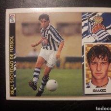 Cromos de Fútbol: IDIAKEZ REAL SOCIEDAD. ESTE 1997-1998 97 98. SIN PEGAR. VER FOTOS DE FRONTAL Y TRASERA. Lote 219031075