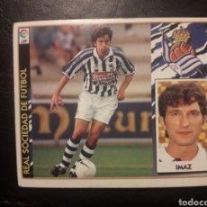 Cromos de Fútbol: IMAZ REAL SOCIEDAD. ESTE 1997-1998 97 98. SIN PEGAR. VER FOTOS DE FRONTAL Y TRASERA. Lote 219031080