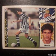 Cromos de Fútbol: GRACIA REAL SOCIEDAD. ESTE 1997-1998 97 98. SIN PEGAR. VER FOTOS DE FRONTAL Y TRASERA. Lote 219031086