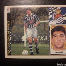 Cromos de Fútbol: IMANOL REAL SOCIEDAD. ESTE 1997-1998 97 98. SIN PEGAR. VER FOTOS DE FRONTAL Y TRASERA. Lote 219031093