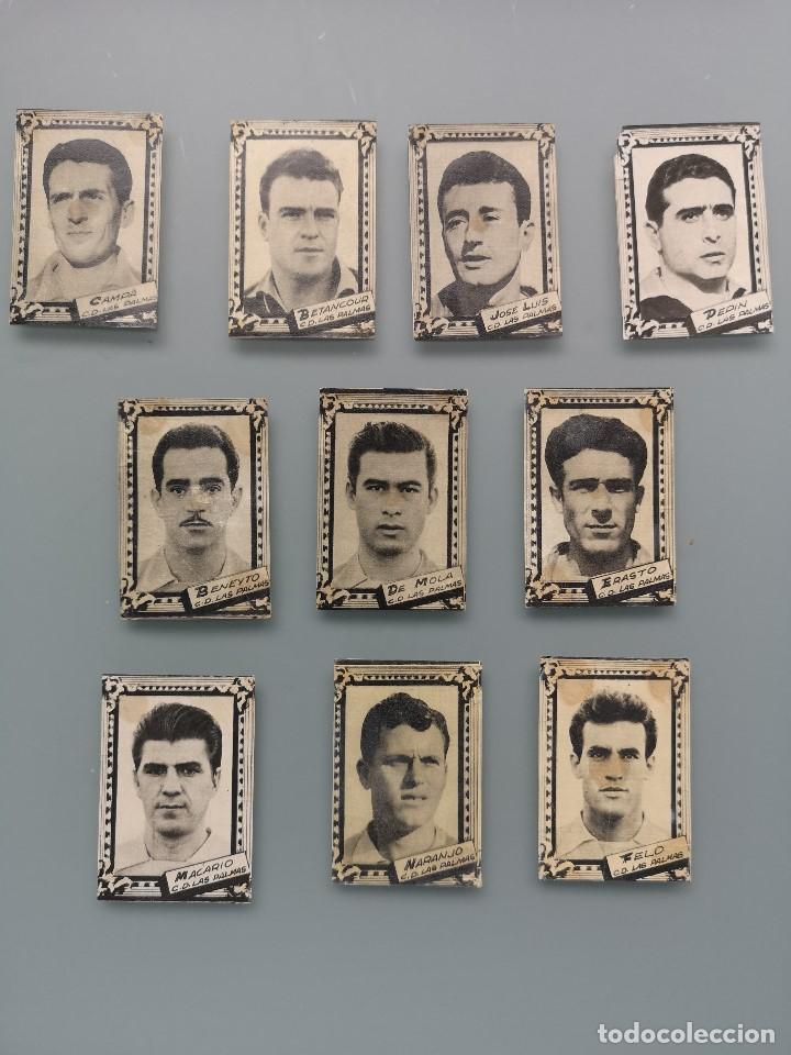 DIFICIL LOTE 10 CROMOS C.D. LAS PALMAS 1959 1960 59 60 ED FHER FUTBOL LIGA GRAN CANARIA MBCONSERVAC* (Coleccionismo Deportivo - Álbumes y Cromos de Deportes - Cromos de Fútbol)