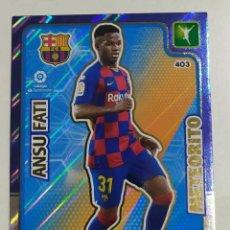 Cromos de Fútbol: ADRENALYN 2019/2020 METEORITO Nº 403 ANSU FATI ROOKIE CARD SPAIN BARCELONA BARÇA. Lote 202978441