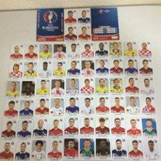 Cromos de Fútbol: LOTE DE DE 16 LAMINAS DE 4 CROMOS CADA UNA TOTAL 64 EURO 2016 FRANCE - UEFA. Lote 203857780