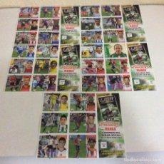 Cromos de Fútbol: LOTE DE DE 5 LAMINAS DE 6 CROMOS CADA UNA TOTAL 30 LIGA ESTE 2006-2007. Lote 203858163