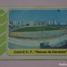 Cartes à collectionner de Football: CROMO DE FUTBOL ESTADIO DEL CADIZ C.F. DESPEGADO LIGA FUTBOL EN ACCION 1977-1978/77-78. Lote 203886625
