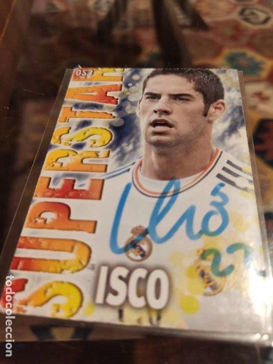 CROMO FIRMADO POR ISCO (AUTÓGRAFO ORIGINAL) DE LAS FICHAS DE LA LIGA 2014 REAL MADRID (Coleccionismo Deportivo - Álbumes y Cromos de Deportes - Cromos de Fútbol)