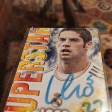 Cromos de Fútbol: CROMO FIRMADO POR ISCO (AUTÓGRAFO ORIGINAL) DE LAS FICHAS DE LA LIGA 2014 REAL MADRID. Lote 204617896