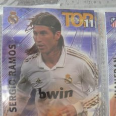 Cromos de Fútbol: 2 SERGIO RAMOS (REAL MADRID) LIMITED EDITION TOP 11 - MUNDICROMO 2012 2013 12 13. Lote 204664377