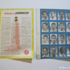 Cromos de Fútbol: REAL RACING DE SANTANDER-LAMINA CON 16 CROMOS DE FUTBOL-HISTORIAL 1954 1955-VER FOTOS-(V-20.116). Lote 204826372