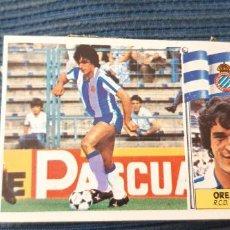Cromos de Fútbol: 86 87 ESTE ESPAÑOL OREJUELA CURIOSO ERROR IMPRESION PINTADO TONOS AZULES. Lote 205364901