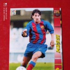 Fußball-Sticker: ROOKIE PANINI MEGACRACKS 04/05 MESSI RESERVADO A LUIS PÉREZ. Lote 205576578