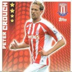 Cromos de Fútbol: 270-PETER CROUCH-STOKE CITY-BASE CARD-TOPPS ENGLISH PREMIER LEAGUE 2014-2015 - MATCH ATTAX. Lote 205607175