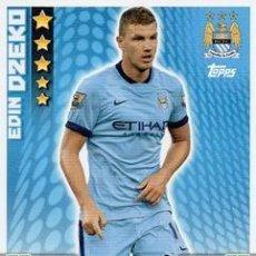 Cromos de Fútbol: 180-EDIN DZEKO-MANCHESTER CITY-BASE CARD-TOPPS ENGLISH PREMIER LEAGUE 2014-2015 - MATCH ATTAX. Lote 205607227