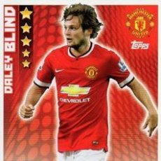 Cromos de Fútbol: 187-DALEY BLIND-MANCHESTER UNITED-BASE CARD-TOPPS ENGLISH PREMIER LEAGUE 2014-2015 - MATCH ATTAX. Lote 205607238