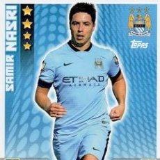 Cromos de Fútbol: 174-SAMIR NASRI-MANCHESTER CITY-BASE CARD-TOPPS ENGLISH PREMIER LEAGUE 2014-2015 - MATCH ATTAX. Lote 205607257