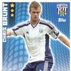 Cromos de Fútbol: 336-CHRIS BRUNT-WEST BROMWICH ALBION-BASE CARD-TOPPS ENGLISH PREMIER LEAGUE 2014-2015 - MATCH ATTAX. Lote 205607377