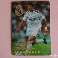 Cromos de Fútbol: CROMO CARD DE FÚTBOL CRISTIANO RONALDO DEL REAL MADRID C.F. DE TOP OF THE LEAGUE. Lote 205608908