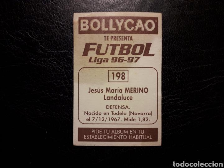Cromos de Fútbol: MERINO RACING DE SANTANDER N° 198. BOLLYCAO 1996-1997 96-97. SIN PEGAR. FOTOS FRONTAL Y TRASERA - Foto 2 - 205611792