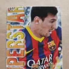 Cromos de Fútbol: MUNDICROMO 2013/14. FICHA N° 27 MESSI SUPERSTAR. Lote 205642876