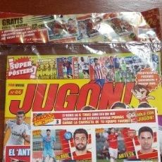 Cromos de Fútbol: REVISTA JUGON 86 PLASTICO ORIGINAL CON 12 CROMOS CRACKS ESPAÑOLES. Lote 205670268