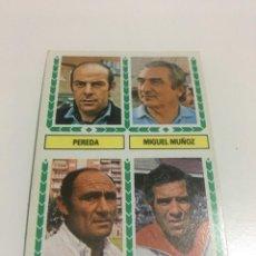 Cromos de Fútbol: CROMO LIGA 83-84 EDICIONES ESTE ENTRENADORES PEREDA MIGUEL MUÑOZ EUSEBIO RIOS LUIS ,NUNCA PEGADO. Lote 205752777