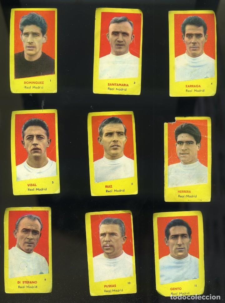 CAMPEONES 1961. 9 CROMOS R. MADRID: DOMÍNGUEZ-SANTAMARÍA-DI STÉFANO-PUSKAS-GENTO... (Coleccionismo Deportivo - Álbumes y Cromos de Deportes - Cromos de Fútbol)