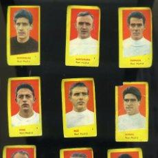 Cromos de Fútbol: CAMPEONES 1961. 9 CROMOS R. MADRID: DOMÍNGUEZ-SANTAMARÍA-DI STÉFANO-PUSKAS-GENTO.... Lote 205823297