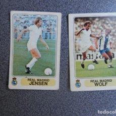 Cromos de Fútbol: REAL MADRID, 2 CROMOS JUGADORES TEMPORADA 1977, FUTBOL EN ACCIÓN SIN DESPEGAR - BIEN CONSERVADOS. Lote 206138648