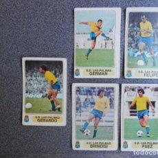Cromos de Fútbol: LAS PALMAS, 5 CROMOS JUGADORES TEMPORADA 1977, FUTBOL EN ACCIÓN SIN DESPEGAR - BIEN CONSERVADOS. Lote 206138806