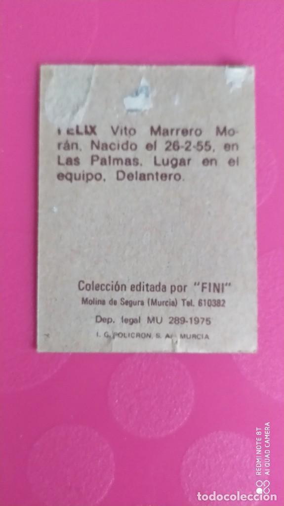 Cromos de Fútbol: FELIX LAS PALMAS FINI 75 76 1975 1976 RECUPERADO - Foto 2 - 206179666