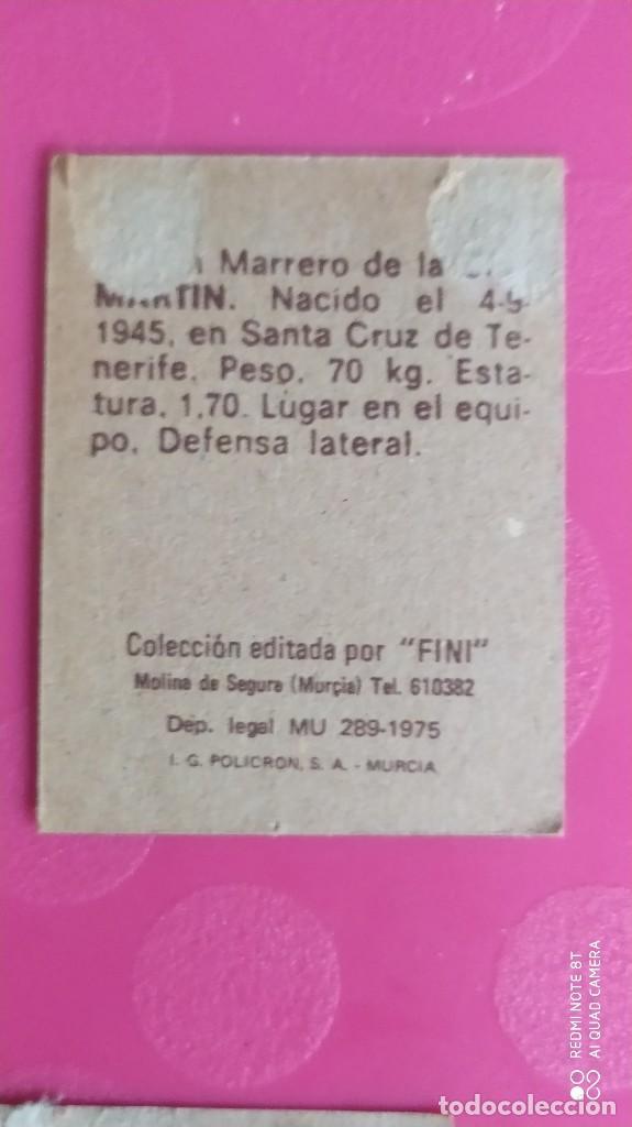 Cromos de Fútbol: MARTIN LAS PALMAS FINI 75 76 1975 1976 RECUPERADO - Foto 2 - 206179698