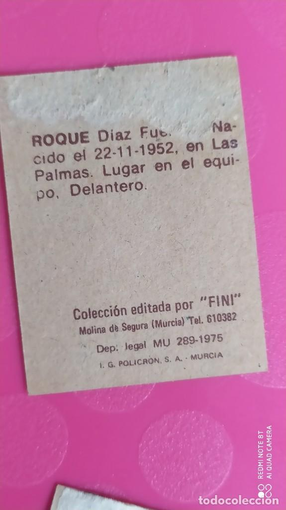 Cromos de Fútbol: ROQUE LAS PALMAS FINI 75 76 1975 1976 RECUPERADO - Foto 2 - 206179856