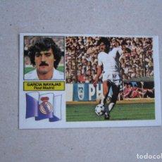 Cromos de Fútbol: ESTE 82 83 BAJA GARCIA NAVAJAS REAL MADRID 1982 1983. Lote 206281980