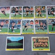 Cromos de Fútbol: LOTE 12 CROMOS ATH. BILBAO LIGA 81-82 ED ESTE - SIN PEGAR. Lote 206285703