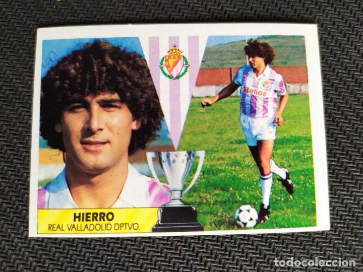 LIGA ESTE 1987 1988 / 87 88 HIERRO (VALLADOLID) NUNCA PEGADO (SIN PEGAR) (Coleccionismo Deportivo - Álbumes y Cromos de Deportes - Cromos de Fútbol)